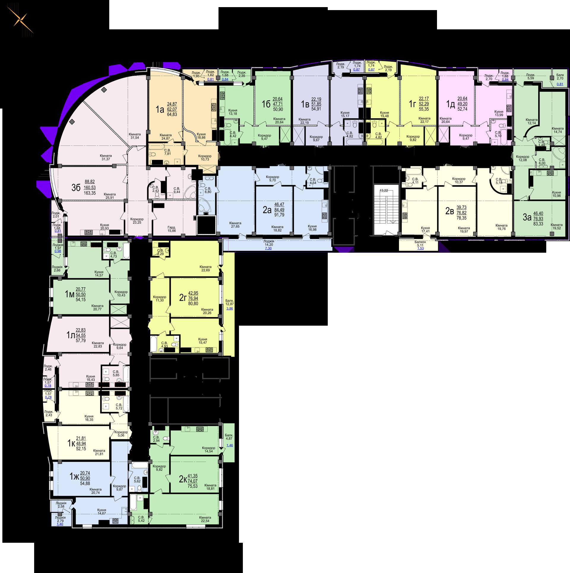 ЖК «Свято-Троїцький посад» 20-25 етажі