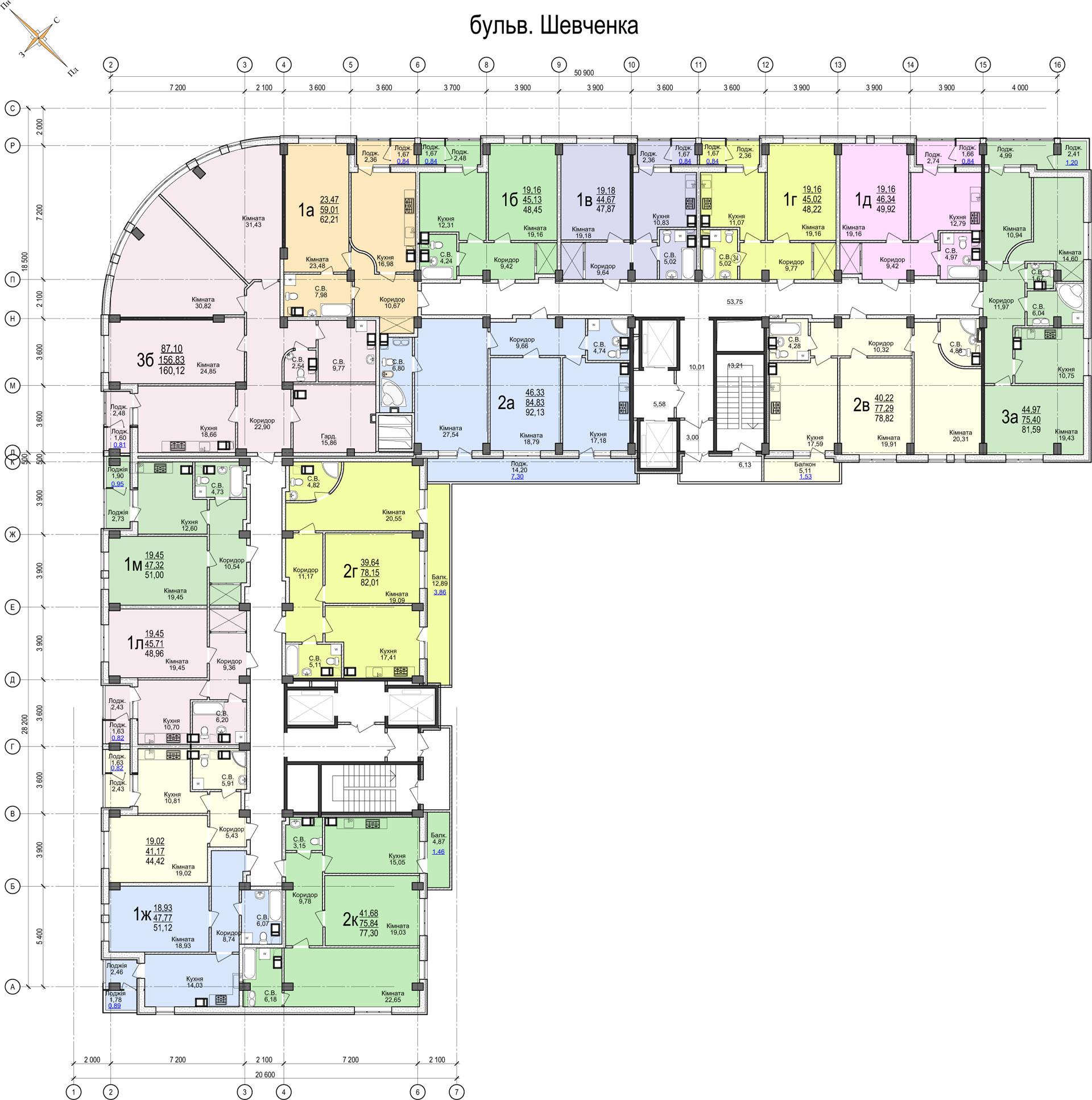 ЖК «Свято-Троїцький посад» 5-20 етажі